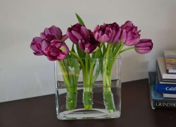déco florale moderne avec élastique