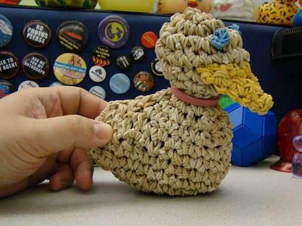 fabriquer diy figurine avec élastique