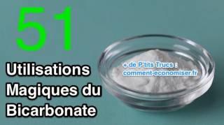 51 utilisations du bicarbonate de soude