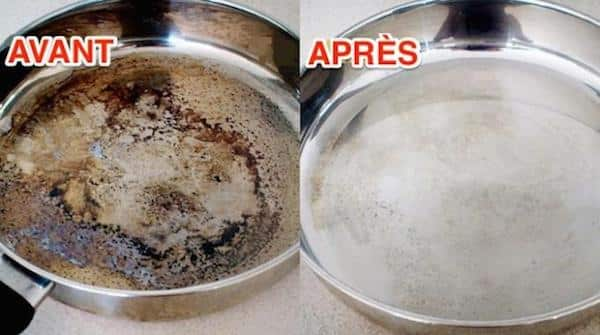 Utilisez du bicarbonate pour rattraper les casseroles et poêles brûlées.