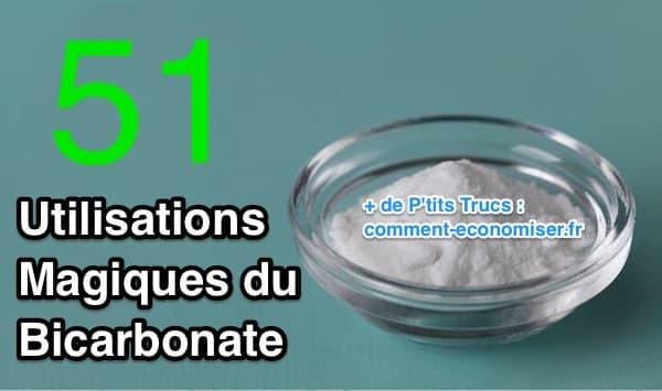 Le bicarbonate de soude est une alternative naturelle aux produits chimiques du commerce.