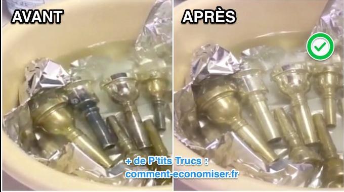Comment nettoyer votre argenterie noircie avec du - Nettoyer douche avec bicarbonate ...