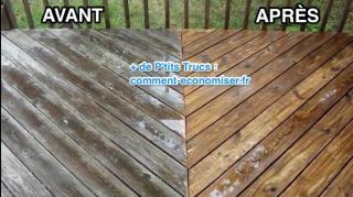 astuce pour dégriser bois terrasse