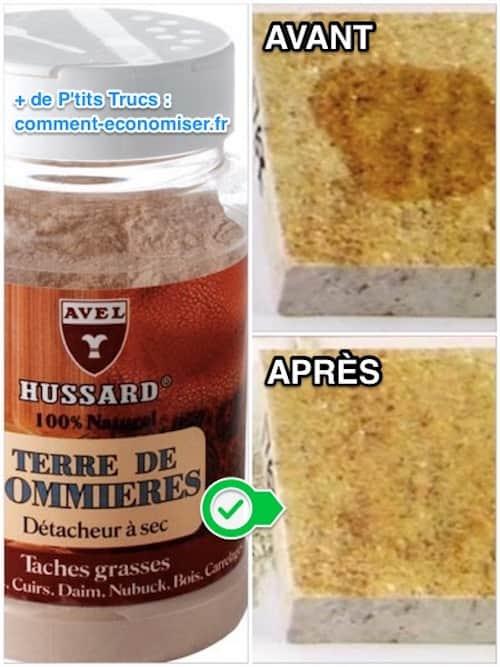 Comment enlever une tache de graisse sur un sol en pierre for Taches de gras sur tissu