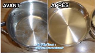 astuce pour enlever tartre dans casserole