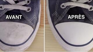 astuce pour nettoyer baskets blanches