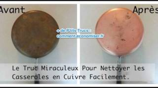 Astuce pour nettoyer casserole en cuivre