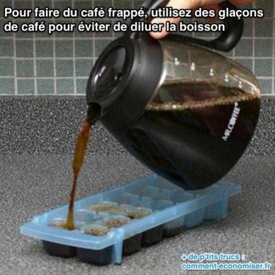 l astuce pour r ussir la recette du caf frapp tous les coups. Black Bedroom Furniture Sets. Home Design Ideas
