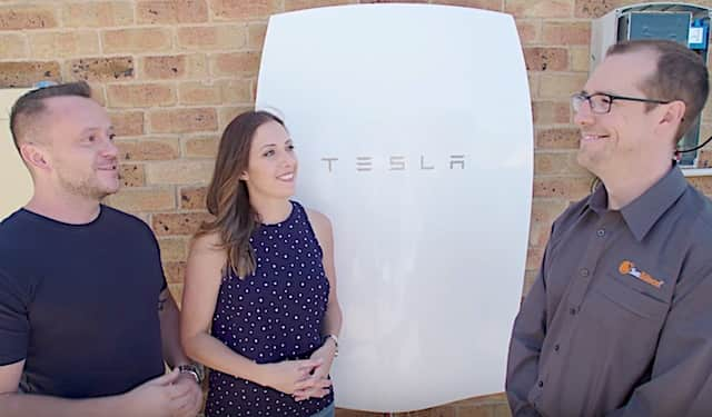 Installation facile batterie rechargeable Powerwall de tesla