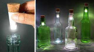 bouchons led pour bouteilles lumière