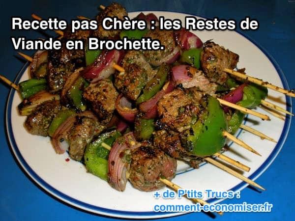 Recette pas ch re et facile les restes de viande en - Comment faire une marinade ...