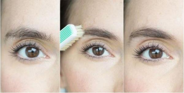 utiliser une brosse à dents pour se brosser les sourcils