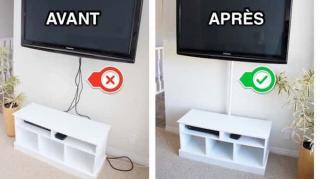 cacher câbles électriques