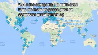 carte mots passe wifi aeroports gratuit