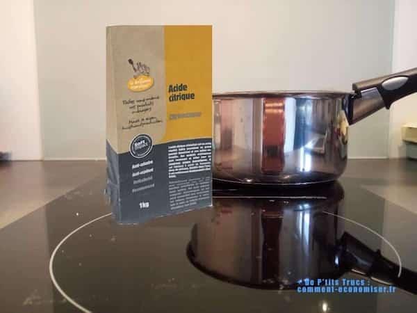 casserole brûlée méthode pour récurer avec acide citrique