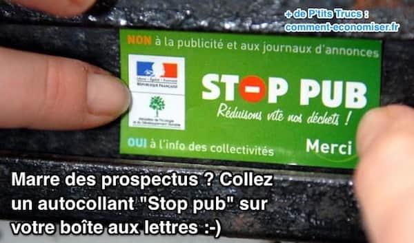 Marre des prospectus collez un autocollant stop pub sur votre bo te aux lettres - Comment enlever un autocollant ...