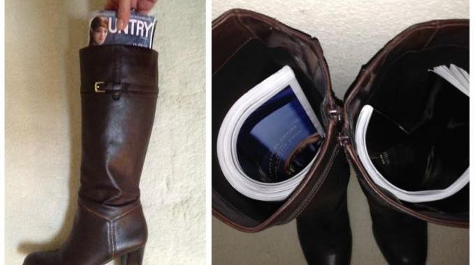 comment faire en sorte que vos bottes restent droites dans votre placard. Black Bedroom Furniture Sets. Home Design Ideas