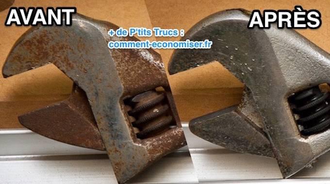 outils rouill s l 39 astuce efficace pour enlever la rouille sans frotter. Black Bedroom Furniture Sets. Home Design Ideas