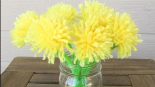 comment faire bouquet de fleurs laine