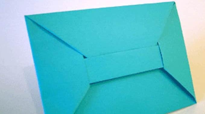 comment faire une enveloppe en origami facilement. Black Bedroom Furniture Sets. Home Design Ideas