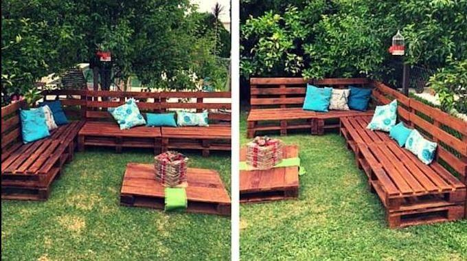 comment faire un salon de jardin sur roulettes avec des palettes en bois. Black Bedroom Furniture Sets. Home Design Ideas