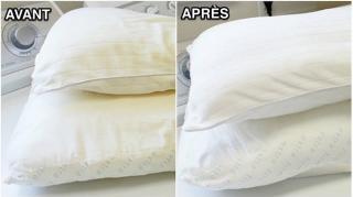 comment laver blanchir oreillers