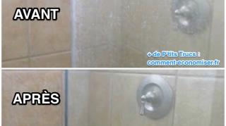 comment nettoyer cabine douche calcaire