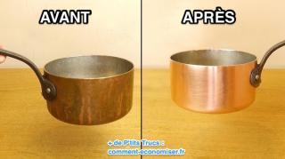 comment nettoyer casserole cuivre naturellement
