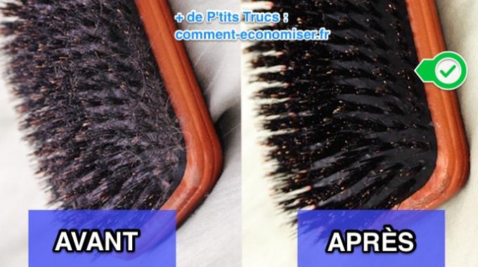 comment nettoyer et d sinfecter facilement une brosse cheveux toute grasse. Black Bedroom Furniture Sets. Home Design Ideas