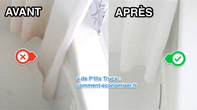 Facile et rapide comment nettoyer un rideau de douche for Nettoyer moisissure douche