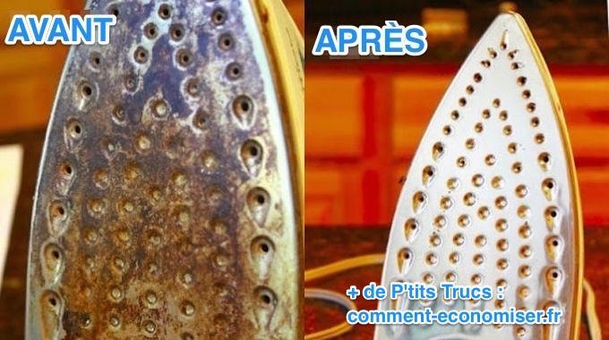 6 astuces faciles et rapides pour nettoyer votre fer for Detartrer fer a repasser