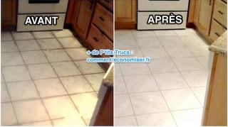 comment nettoyer sol cuisine très sale