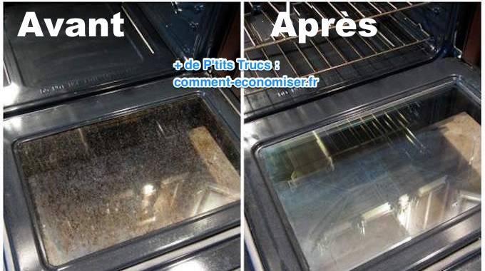 Plus besoin d 39 acheter de d cap 39 four 2 recettes pour nettoyer la porte du four sans effort - Comment nettoyer la grille du four ...