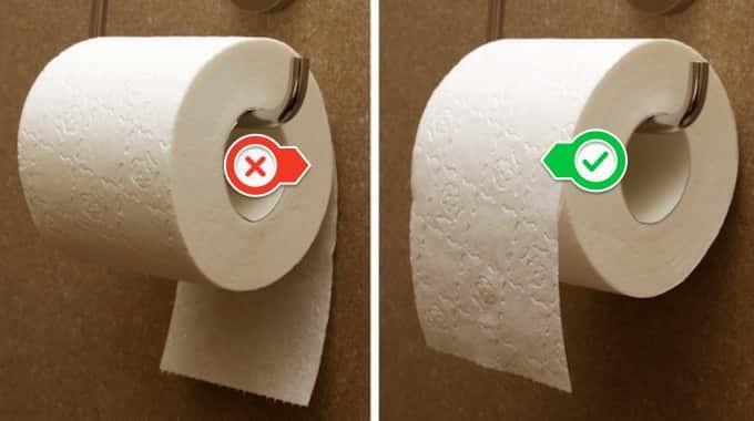 tes vous s r d 39 accrocher votre papier toilette de la bonne mani re. Black Bedroom Furniture Sets. Home Design Ideas