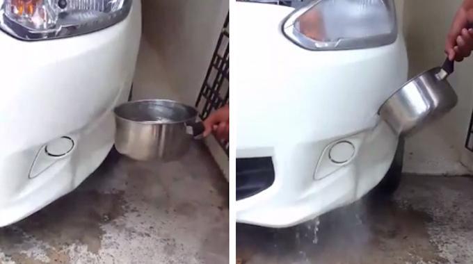Comment r parer un pare choc enfonc avec de l 39 eau chaude - Comment economiser de l eau ...