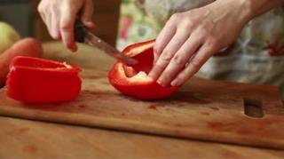 couper poivrons astuce