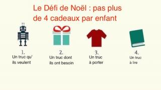 defi de noel pour cadeaux