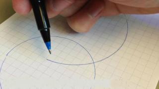 dessiner cercle parfait main