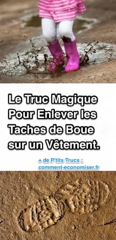 Le truc magique pour enlever facilement les taches de boue - Astuce pour enlever tache de rouille sur vetement ...