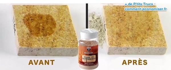 comment enlever une tache de graisse sur un sol en pierre naturelle.
