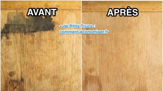 Comment enlever une tache sur un meuble en bois avec du - Nettoyer traces noires sur crepi ...