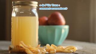 faire vinaigre cidre avec restes pommes