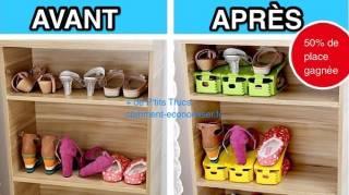 Gagner place pour rangement de chaussures