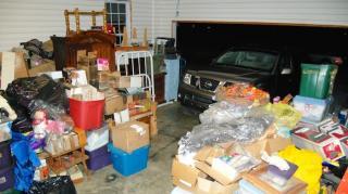 garage completement plein