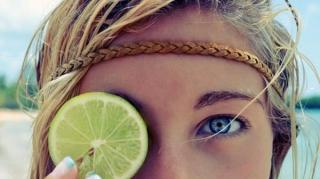 goutte citron oeil