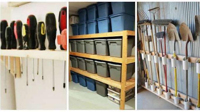 14 super id es de rangement pour le garage - Faire des etageres dans un garage ...