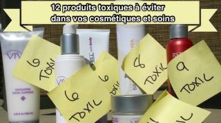 ingrédients toxiques dans cosmétiques