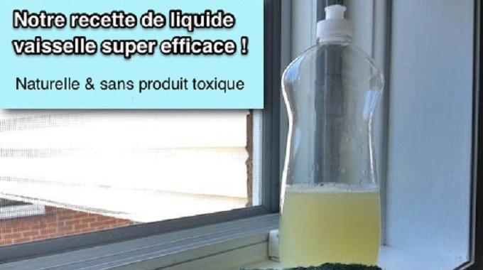 La recette du liquide vaisselle maison super efficace - Recette liquide vaisselle maison moussant ...