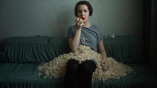 manger du popcorn