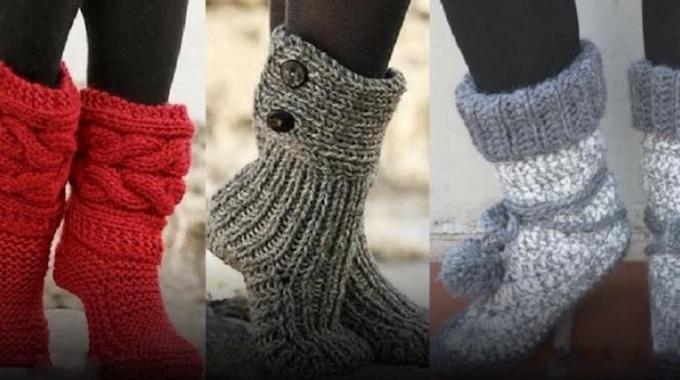 modèles-gratuits-pantoufles-tricot-crochet